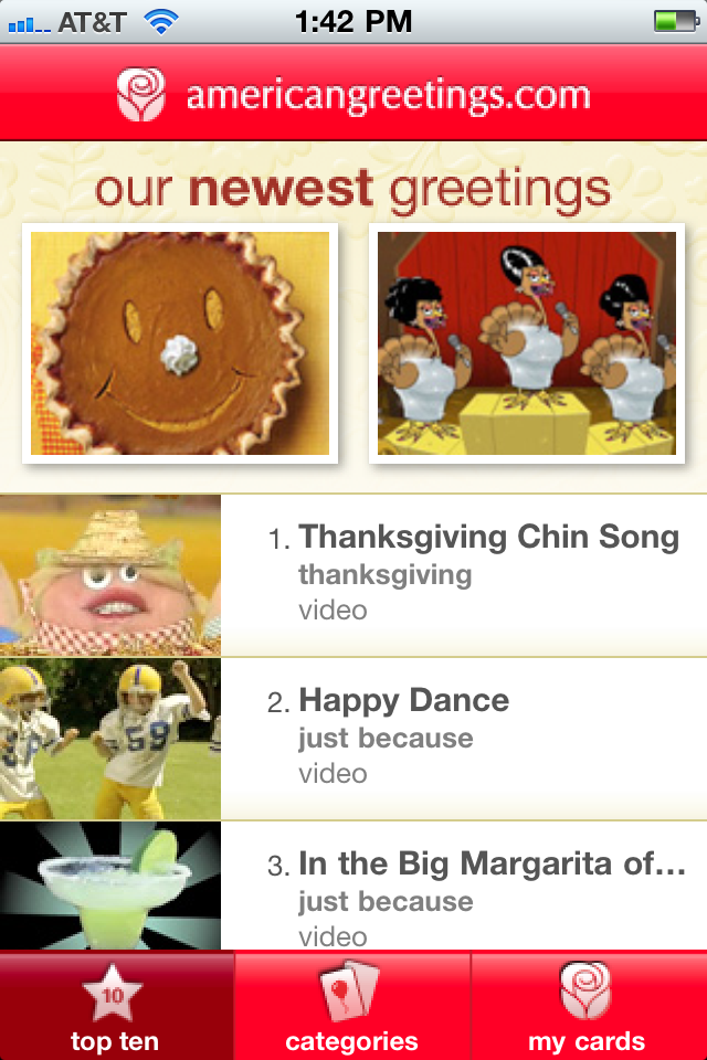 Holidays apps4moms american greetings app for iphone ipod and ipad this app provides a wide and ever growing variety of cards to choose from tackling categories such as m4hsunfo